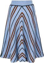 Miu Miu striped midi skirt
