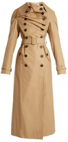 Awake Double-breasted cotton trench coat
