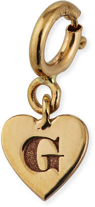 Chicco Zoe Personalized 14k Tiny Initial Heart Pendant