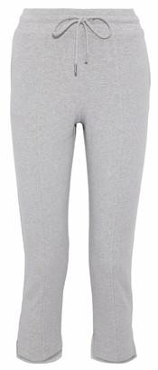 Cushnie Amaris Cropped Melange Fleece Track Pants
