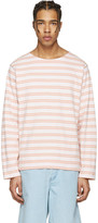 Acne Studios Pink Striped Nimes T-shirt