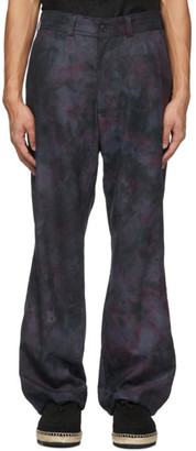 Needles Navy Uneven Dye Trousers