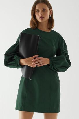 Cos Volume Sleeve Waisted Dress