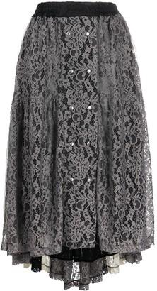 Koché Lace High-Low Skirt