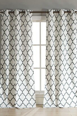 Duck River Textile Mason Grommet Pair Curtain - Set of 2 - Stone/Blue