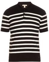 Burberry Brit Striped Cotton-knit Polo Shirt