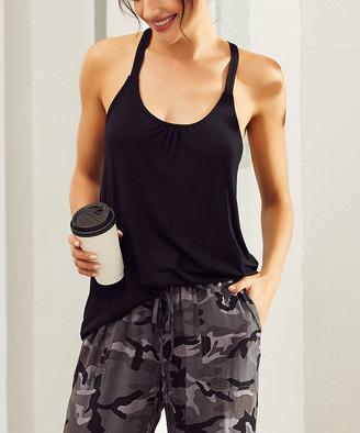 Simple By Suzanne Betro Simple by Suzanne Betro Women's Tunics 101BLACK - Black Gathered-Back Tank - Women & Plus