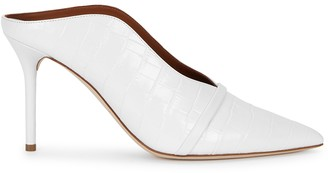 Malone Souliers Constance 70 White Leather Mules