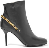 Moschino Embellished leather ankle boots