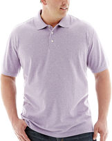 JCPenney THE FOUNDRY SUPPLY CO. The Foundry Big & Tall Supply Co. Heathered Piqu Polo