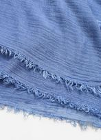 MANGO Frayed edge scarf