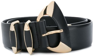 Alberta Ferretti Metal Accent Leather Belt