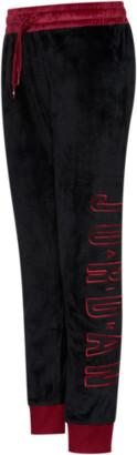 Jordan Air Legacy Velour Pants - Black / Gym Red - Fleece