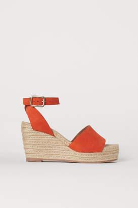 H&M Satin Platform Sandals - Orange