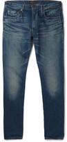 Beams Slim-Fit Washed Selvedge Denim Jeans