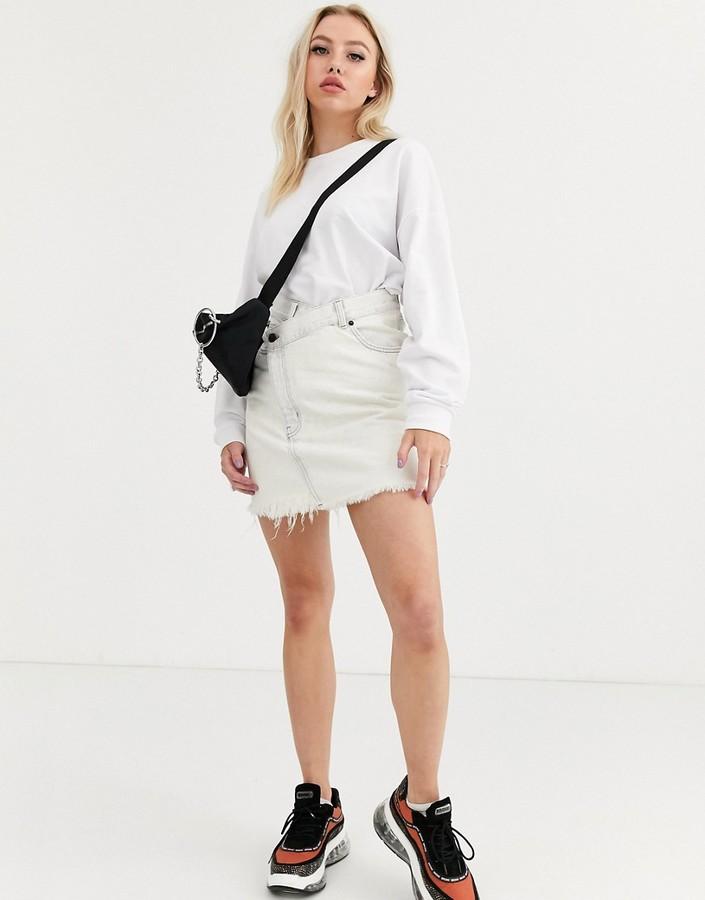 Cheap Monday Slant denim skirt