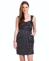 Teeze me satin polka-dot dress