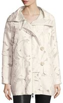 Moncler Pistache Floral Burnout Jacket, Cream