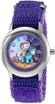 Disney Girl's 'Sheriff Callie' Quartz Stainless Steel and Nylon Automatic Watch, Color: (Model: W003089)