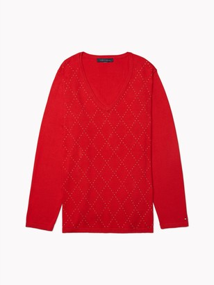 Tommy Hilfiger Essential Curve Tonal Argyle Sweater