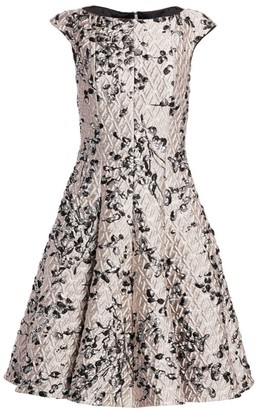 Talbot Runhof Jacquard A-Line Cocktail Dress