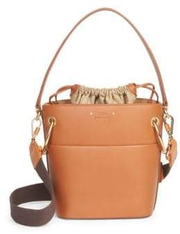 Chloé Small Drawstring Leather Bucket Bag