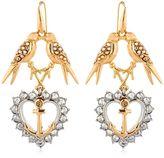 Schield Anchor Line Earrings