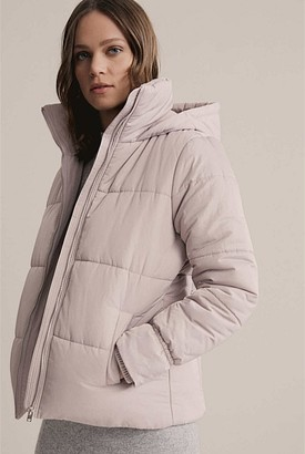 Witchery Wide Quilted Puffer