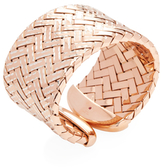 Roberto Coin Polished Rose gold-plated silver Woven Wide Bangle Bracelet