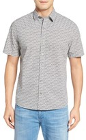 Maker & Company Men's Wavy Day Print Sport Shirt