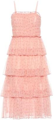 Jonathan Simkhai Harlyn floral tulle midi dress