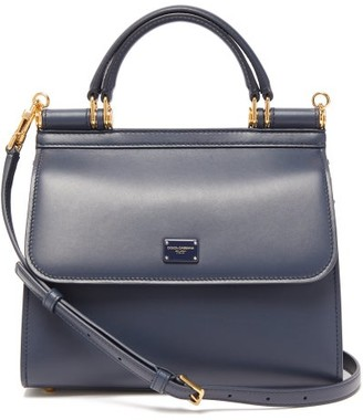 Dolce & Gabbana Sicily Small Leather Bag - Womens - Blue