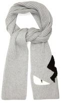 Fendi Bag Bugs Appliqué Wool Scarf