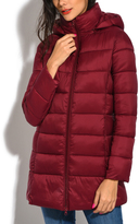 Red Long Down Puffer Jacket