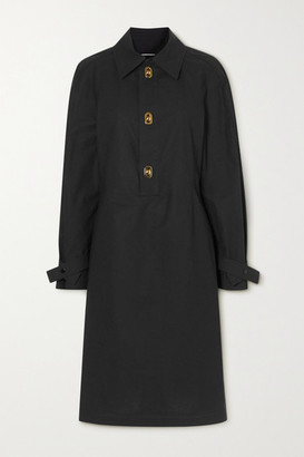 Bottega Veneta Coated-cotton Dress - Black