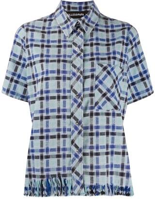 Filles a papa Crystal Embellished Check Shirt