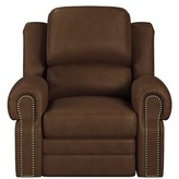 Westland And Birch Hilltop Leather Manual Recliner Westland and Birch Upholstery Color: Cherry