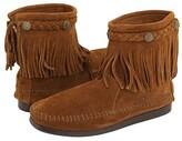 Minnetonka Hi-Top Back Zip Boot (Brown Suede) Women's Zip Boots