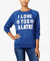 Freeze 24-7 Juniors' Latke Graphic Sweatshirt