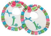 Mud Pie Letter Cotton Bib
