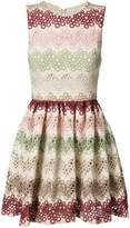 Alice + Olivia Alice+Olivia zigzag lace mini-dress