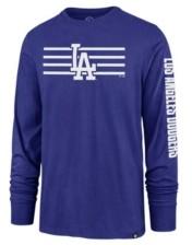 '47 Los Angeles Dodgers Men's Cross Stripe Long Sleeve T-Shirt