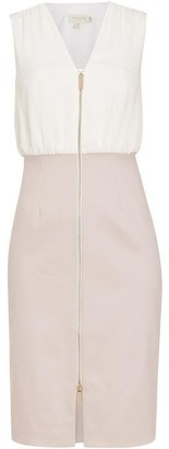 Ted Baker Annise Bodycon Pencil Dress With Exposed Zip