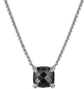 David Yurman Chatelaine Pendant Necklace with Black Onyx and Diamonds, 18