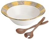 Michael Wainwright Tempio Luna Gold Salad Bowl & Servers