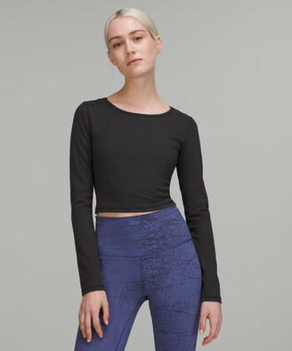 Lululemon Wunder Train Cropped Long Sleeve