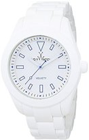 Toy Watch Unisex Quartz Watch with White Dial Analogue Display and White Rubber Strap 0.94.0016