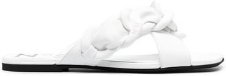 No.21 Woven Strap Flat Sandals
