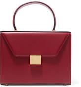 Victoria Beckham Vanity Case Large Leather Tote - Burgundy