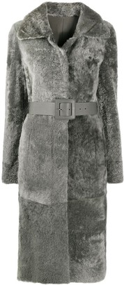 Drome Single-Breasted Belted Coat